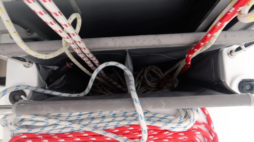 Leopard 45 - line storage - sailing satori