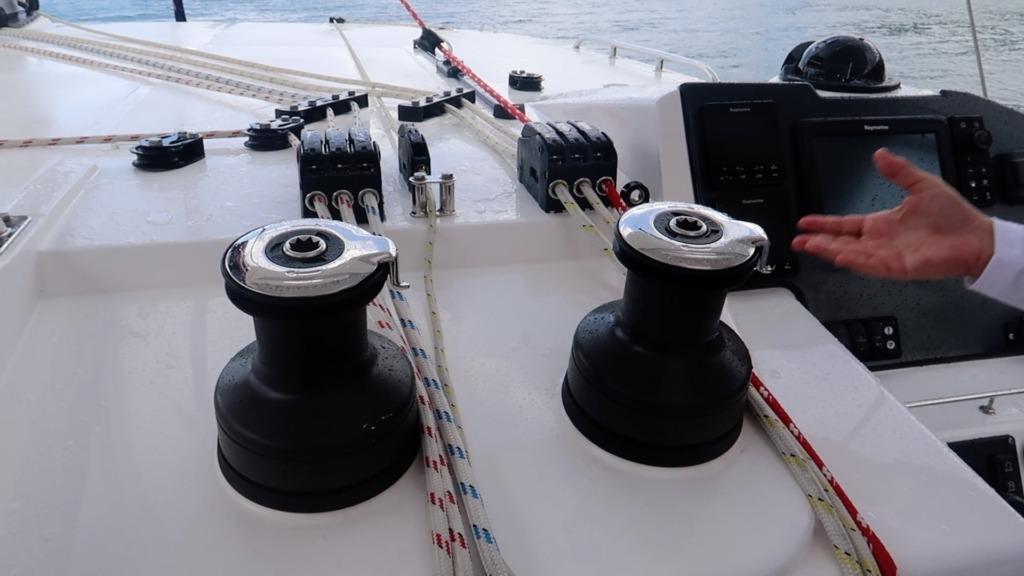 Leopard 45 - winches - sailing satori