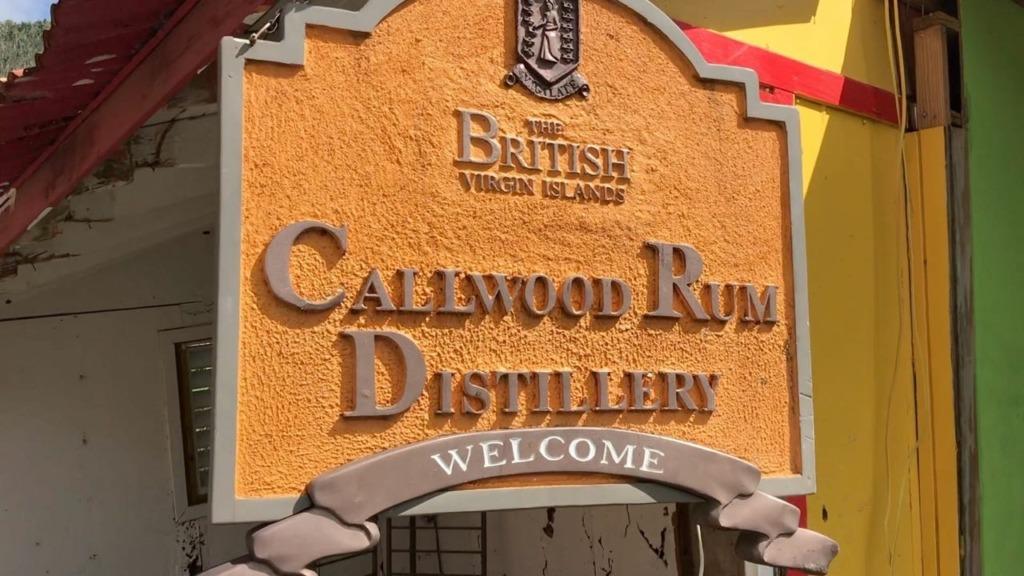Callwood Rum Distillery sign