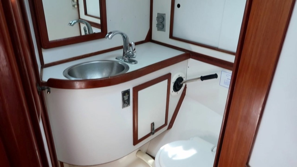 sailboat bathroom - before water maker installation