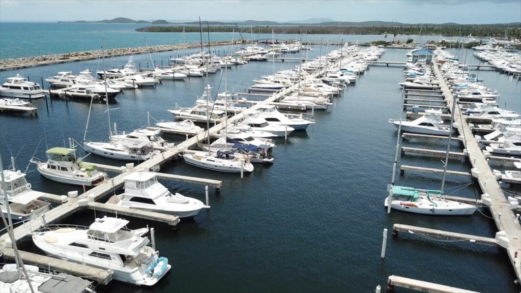 Puerto Del Rey Marina Review - marina docks from above sailing satori